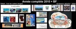 WALLIS ET FUTUNA Année Complète 2010 + BF25 - Yv. 728 à 744 + … ** MNH   - 19 Timbres  ..Réf.W&F22630 - Full Years