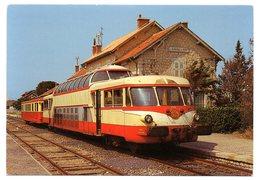 GARD - Dépt N° 30 = LE GRAU DU ROI 1983 = CP NEUVE  AL = GARE + Autorail Panoramique X 4206 - Le Grau-du-Roi
