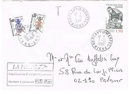 TAXES SUR ENVELOPPE - 1960-.... Cartas