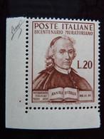 "ITALIA Repubblica -1950- ""Muratori"" £. 20 Filigrana Lettere 12/10 + Varieta' MNH** (descrizione) - Variétés Et Curiosités"
