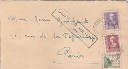 Lettre Espagne Pour Paris Censure Militaire - 1931-Aujourd'hui: II. République - ....Juan Carlos I