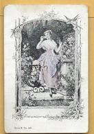 C.P.A. Femme Et Fleurs - Vrouwen