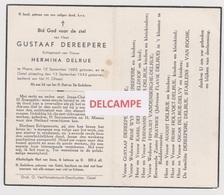 DOODSPRENTJE DEREEPERE GUSTAAF ECHTGENOOT DELRUE MOERE GISTEL 1885 - 1943 - Devotion Images