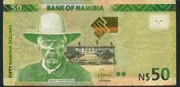 NAMIBIA P13a 50 DOLLARS 2012 #G     F-VF NO P.h. - Namibie