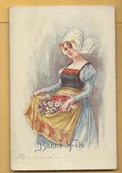 C.P.A. Colombo E. - Femme Folklore - Colombo, E.