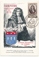 TUNISIE - Carte Fédérale - Journée Du Timbre 1947 TUNIS (Louvois)  Avec Vignette Au Dos - Tunisia (1888-1955)