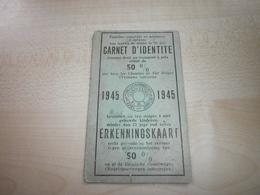 Ancienne Carte Réduction Famille Nombreuse BELGIQUE 1945 - Other