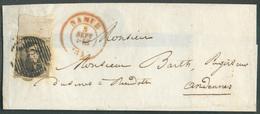 N°6 - Médaillon 10 Centimes Brun, Voisin En Bas Et Bord De Feuille Complet En Haut, Obl. P.85 Sur Enveloppe De NAMUR Le - Belgio