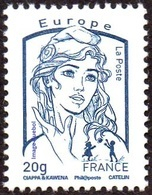 France Marianne De La Jeunesse Par Ciappa Et Kawena N° 4768 ** Le Gommé,  20 Grammes Bleu Europe - 2013-... Marianne De Ciappa-Kawena