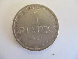 Germany : 1 Reichmark 1924 A - [ 3] 1918-1933 : Weimar Republic