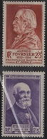 FR 1275 - FRANCE N° 748/49 Neufs** Alfred Fournier Et Henri Becquerel - Frankreich