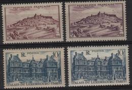 FR 1276 - FRANCE N° 759/60 Neufs** VARIETE DE TEINTES Sites Et Monuments - France