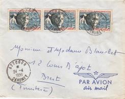 LETTRE DAHOMEY. 24 4 59. ATTOGON POUR BREST. 60F PAR AVION  /  2 - Brieven En Documenten