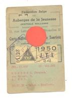 Carte De Jeune Touriste - Fédération Des Auberges De Jeunesse - 1950 - Photo Au Verso (b274) - Vecchi Documenti