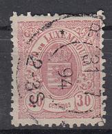 LUXEMBURG - Michel - 1880 - Nr 4 B - Gest/Obl/Us - 1859-1880 Coat Of Arms