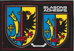 CPSM 57 AUDUN LE TICHE BLASON ADHESIF - Francia