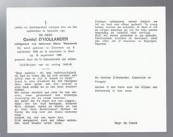 DOODSPRENTJE D'HOLLANDER VLAEMINCK ° OVERMERE 1908 + GENT 1980 OUD-STRIJDER 1940-45 - Devotion Images