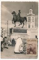 ALGERIE - Carte Maximum -15f + 20f Statue Du Duc D'Orléans - ALGER - 10/11/1949 - Cartoline Maximum