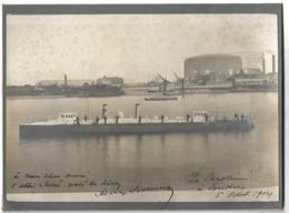 Photo Originale LONDRES 1904 BATEAU - Guerre, Militaire