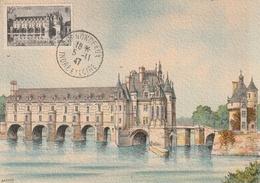 Carte Maximum - Chenonceaux 1947 - France