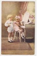 K 253 ,  OLD   FANTASY  POSTCARD  , CHILDREN , FINE ART , - Sin Clasificación