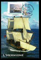 17 ROCHEFORT 29-08-2015 Carte Maximum Retour De L' HERMIONE Cachet Illustré Sur Timbre Hermione SUPERBE ! 2 Scan - Cartoline Maximum