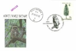 6170  Chouette Tachetée: Oblitération 2003 - Spotted Owl  Special Cancel, Commemorative Cover. Strix Occidentalis Hibou - Owls
