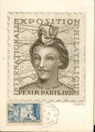 Carte Maximum - Exposition Internationale Philatélique  Paris 1937 Entier 20 C - France