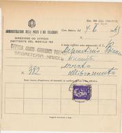 1945 LUOGOTENENZA AMMENDA AL PERSONALE 10 LIRE IMPERIALE SENZA FASCI ISOLATO TIRATURA ROMA - Storia Postale