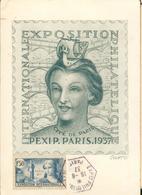 Carte Maximum - Exposition Internationale Philatélique  Paris 1937 Entier 40 C - France