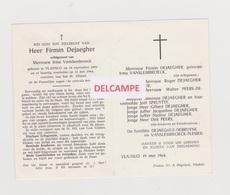 DOODSPRENTJE DEJAEGHER FIRMIN ECHTGENOOT VANSLEMBROECK VLADSLO 1895 - 1964 - Andachtsbilder
