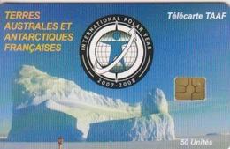 Télécarte 50U, Tirage 3000, Année Polaire Internationale 2007-2008 (Iceberg) - TAAF - Terres Australes Antarctiques Françaises