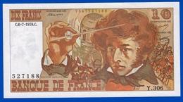 10 FRANCS BERLIOZ BILLET BANQUE DE FRANCE NEUF TYPE 1972 Y.306 N° 527188 DU C.6-7-1978.C Serbon63 - 1962-1997 ''Francs''