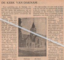 DAKNAM..1928.. DE KERK VAN DAKNAM - Unclassified