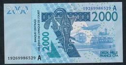 W.A.S. IVORY COAST P116As 2000 FRANCS (20)19 2019  UNC. - États D'Afrique De L'Ouest