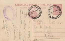 Piedimonte D'Alife. 1918. Annulo Guller PIEDIMONTE D'ALIFE *CASERTA* + Timbro A Tampone CONSORZIO AGRARIO ... - 1900-44 Vittorio Emanuele III