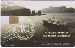 Télécarte 50U, Tirage 1500, Carnet De Voyage Du Marion-Dufresne (Marion, Arche De Kerguelen, Paysage, ...) - TAAF - Terres Australes Antarctiques Françaises
