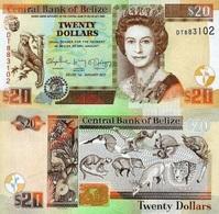 BELIZE 20 Dollars 2017 P 69 F UNC - Belize