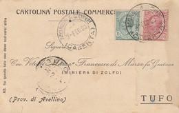 Mondragone. 1920. Annulo Guller MONDRAGONE (CASERTA),  Su Cartolina Postale - Storia Postale