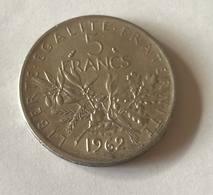 F.340/6 - Pièce 5 Francs La Semeuse 1962 - J. 5 Francs