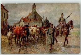 52372096 - Viehbeitreiung Sign. Koch, Georg - Ulanen -  Rinder - Wohlfahrtskarte Kriegsblindenstiftung - Weltkrieg 1914-18