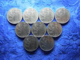 ITALY 100 LIRE 1956, 1957, 1959, 1962, 1964-1966, 1973, 1974, KM96.1 (9) - Autres