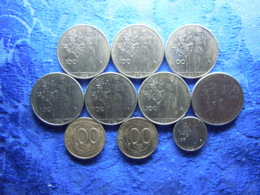 ITALY 100 LIRE 1975-1979 , 1981 KM96.1, 1979 Scratched KM106, 1992 KM96.2, 1996, 1998 KM154 (10) - Andere