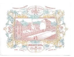 Lessines -fabrique D'allumettes Mertens - Carte Porcelaine 11,5 Sur 16cm - Vers 1850 - Trace Au Dos - Cartes De Visite