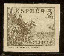 España Edifil 816s  SIN DENTAR 5 Céntimos  Cifras, Cid E Isabel  1937/40  NL1512 - 1931-50 Usados