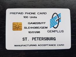 RUSSIA - SAINT-PETERSBURG TAXOPHONES - GEMPLUS ELECTRICAL TEST CARD - USED - 10 EX ONLY - RRRRR - Russie