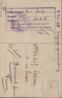 Guerre 14 Internement Prisonnier Civil Interné à Paderborn Allemagne CPA Chrysanthème Censure 9 Nov 1917 - WW I