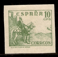 España Edifil 817s  SIN DENTAR 10 Céntimos Cifras, Cid E Isabel  1937/40  NL1513 - 1931-50 Usados