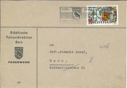 Städtische Polizeidirektion Bern Feuerwehr - 1944 Wappen - Zwitserland