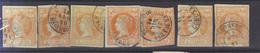 Año 1860 Edifil 52 Isabel II 7 Sellos Matasellos Varios - Used Stamps